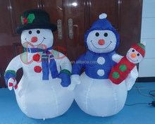 1.2METER INFLATABLE AIR OUTDOOR CHRISTMAS DECORATION FAMILY SNOWMAN