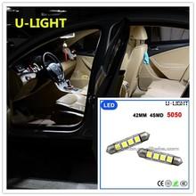 Factory cheap bulb atuo Car LED dome/interior light 42mm 4smd 5050 LED light AC 12-15V