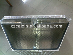 ISO certificated Aluminum truck tool box, aluminum checkered plate tool box