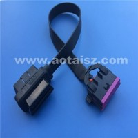 Professional J1962 flat cable obd ii female to male wire diagnostic tool for Audi Vw