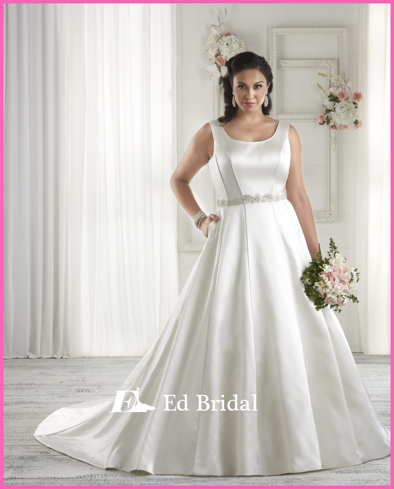 Simple elegant wedding dresses online cheap simple plus for Plus size simple wedding dress