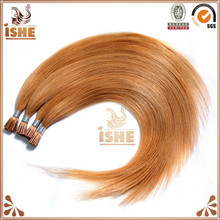 Russian human double drawn high quality wholesale I tip blonde brazilian hair color 27