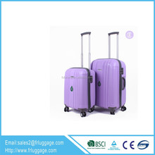 four 360 degree rotation twin wheels spinner luggage with extendible handle