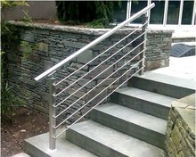 Stainless steel outdoor hand rails