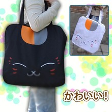 New Kawaii Natsume's Book of Friends Kitty Cat Anime Otaku Big Shoulder Satchel Huge Bag 2 Colors KK599