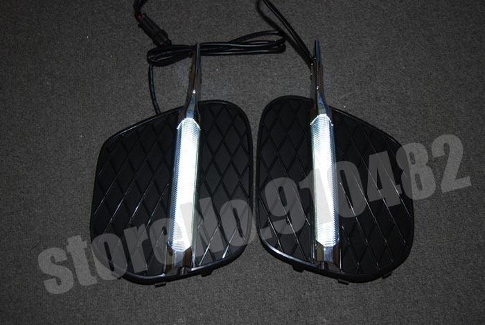 Free Shipping Car LED Daytime running light LED DRL daytime running light with fog lamp cover for BMW X5 E70LCI 2011-2013