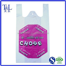 Customized printing and size grocery shopping cheap t-shirt plastic bag
