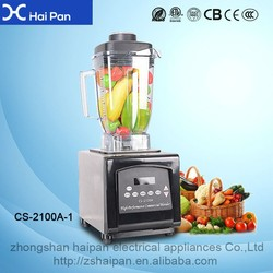 High Speed Plastic Electric Food Chopper/ blender for smoothies with 2.5l jar for sale