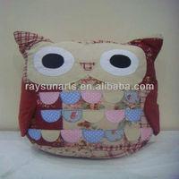 home decoration owl cushion