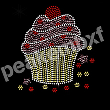 Hotsale Cupcake Wholesale Rhinestone Heat Transfers Garment Embelishment Transfer