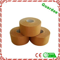 3.8cm*9.1m Skin Color Strong Zinc Oxide Adhesive Rayon Rigid Strapping Tape