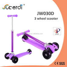 CE EN71 new large wheel kids foot pedal foldable china off road kick scooter