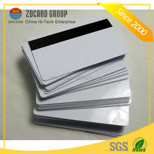 Top quality CR80 pvc business clear card with magnetic strip