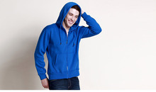 Custom made high quality zipper hoody sweatshirt hot selling