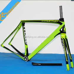 Best selling oem carbon fiber road bike frame lightweight road bike frame super light green bike frame for sale