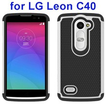 2015new products Football Texture Rugged Silicone and PC Hybrid Case for LG Leon C40