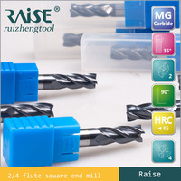 Tungsten Carbide Coated High Precision 4 Flute Corner Radius End Milling Cutter/CNC Lathe Cutting Tools