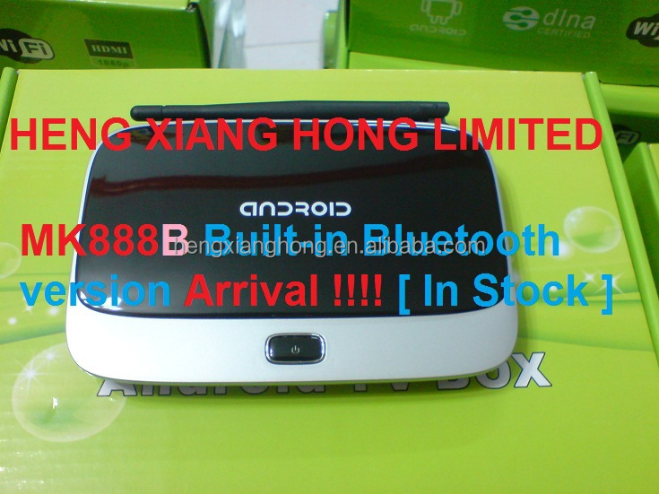 CS918 Quad core RK3188 Android TV BOX MK888 Built-in Buletooth MK888B