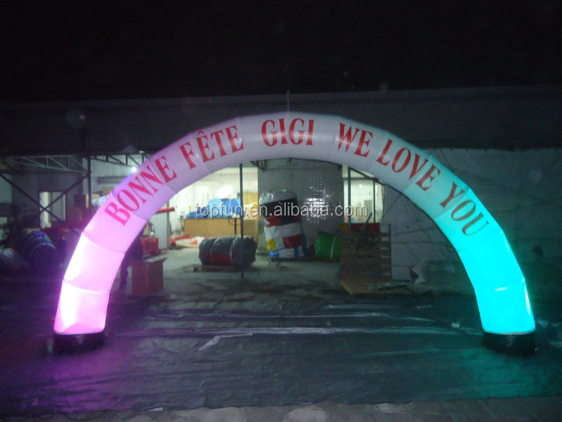 Outdoor advertising Inflatable arch for events / outdoor events promotion inflatable arch