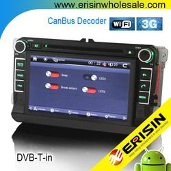 """Erisin ES7836A 7"""" 2 Din Android Car DVD Player for Passat CC 2009"""