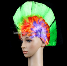 Manufacturer Yiwu Party Supplies Synthetic Hair Football Fans Wig