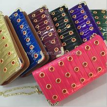 New designer fashion rivet lady genuine leather wallet,genuine leather handbag with chain