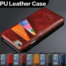 Luxury Newest PU Leather Card Slot Wallet Mobile Phone Case for iPhone 6 Plus 5.5 inch