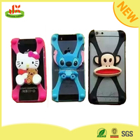 Popular cartoon universal silicone bumper wholesale cell phone case