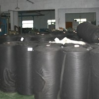 100%Polyester Eco-friendly Needle Punched black Nonwoven shoe making material