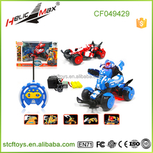 Boy hobby toys4 ch 27cm not small wireless control stunt transform toy RC Racing Robot Car LITIAN566-104
