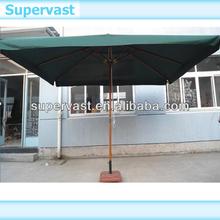 Big Square Wooden Patio umbrella