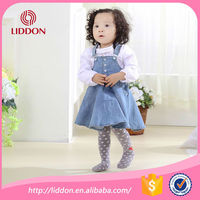 Best sales classical dot jacquard breathable pantyhose suit for baby girls