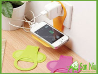 ABS Plastic mobile cell phone charger charge holder easy taking