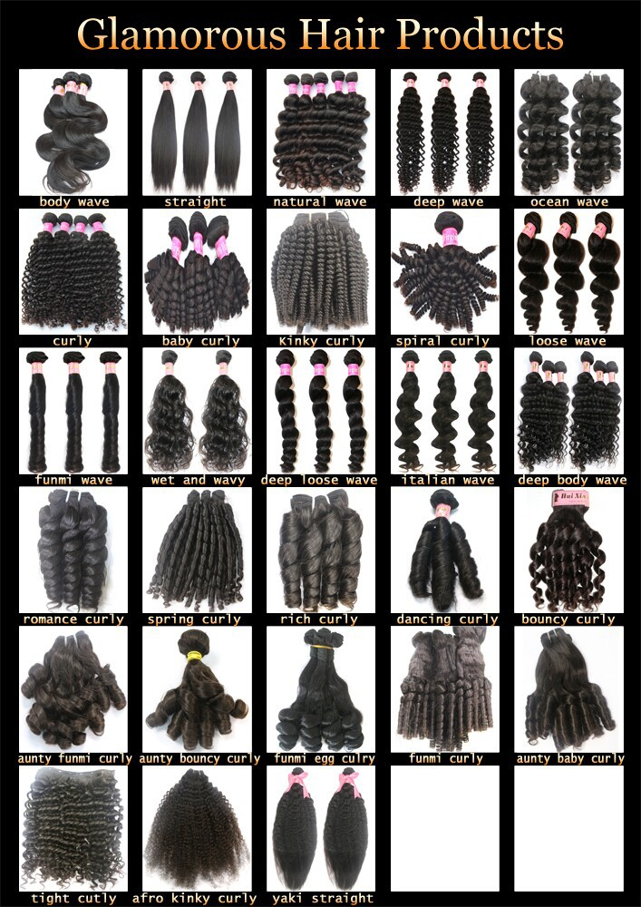 Different Types Of Curly Weave Hairhuixin Factory Baby Curly Hair