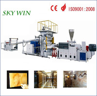 PVC Imitation Marble Sheet Production Line / PVC Stone Sculpture Flooring Extrusion Machine