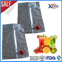 Multiple layer laminated spout tap plastic bag in box/juice bag