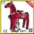 Oi en71 mecânica promocional de brinquedos de cavalo, cavalo de madeira brinquedos, execução cavalo de brinquedo