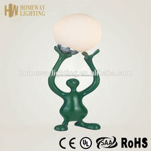 New arrival 2015 adjustable sex with animals men and women table lamp red UL approval/ resin lamp
