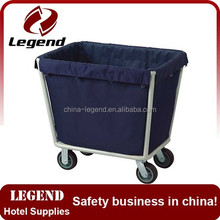 Hotel housekeeping trolley supplier wheeled laundry cart