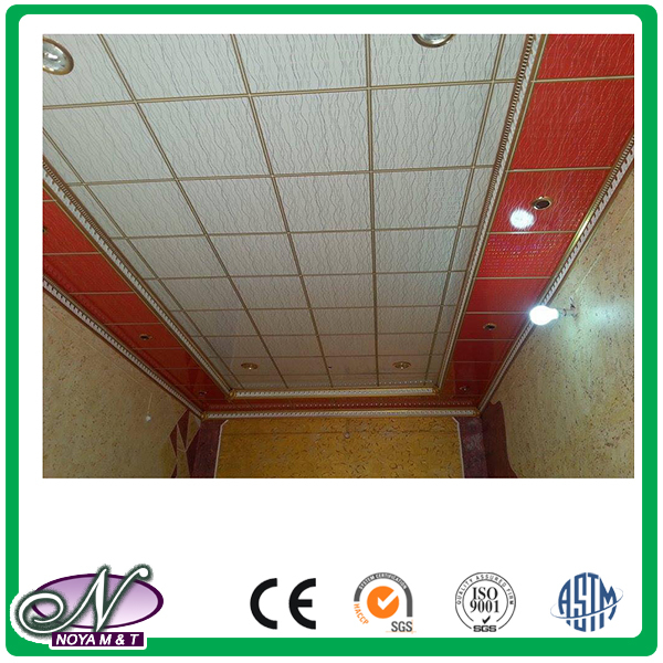 Cheap bathroom waterproof high quality aluminum foil ceiling panel