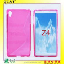Hot sale For Sony z4 TPU Case, S Type Soft Gel Cover TPU Case for Sony Xperia z4