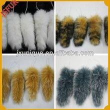 venta al por mayor de imitación de la cola de conejo conejo de piel auténtica hecha de prendas de vestir para los zapatos y bols