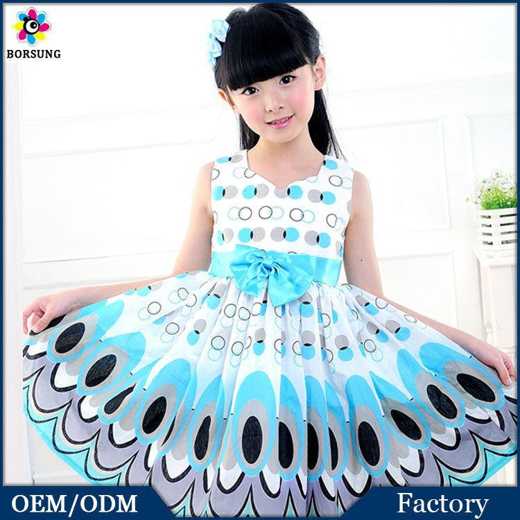 size 14 factory prices 2015 spring summer peacock color sleeveless v-neck simple flower frocks d ...