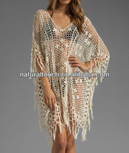 Caftan coton sexy pour les femmes, 2013 mode robes crochet blanc( cf30001)