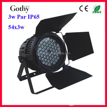3x54 Led Par light With Bran Doors With White Leds