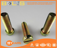 DIN84 zinc yellow Slotted cheese head screws