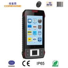 touch screen handheld pda WiFi laser barcode scanner machine HF RFID Handheld Reader, dropproof/ waterproof/ shockproof