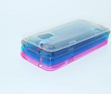 Hot ssoft waterproof TPU bumper case for S5 i9600 cell phone