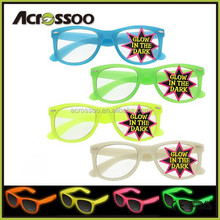 Custom Logo Safety Green Glow In The Dark Party Sun glasses