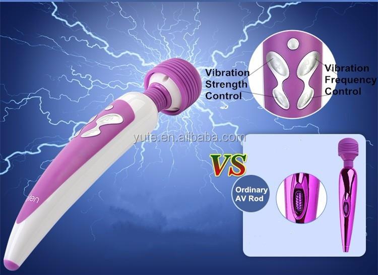 Leten sạc Tốc độ Av Massager, mạnh mẽ Av rung Quiet Massager Vibrating Wand Vibrating Stick AV Rod rung Se Đồ chơi